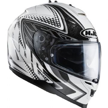 HJC IS-17 Tasman Black White Full Face Motorcycle Helmet Extra Large